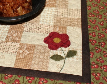 Where's spring quilted candle mat