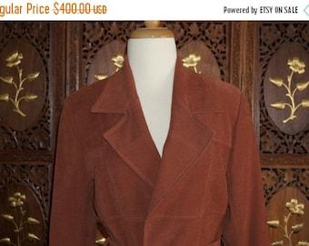 ON SALE 1970s BIBA Cocoa Brown Wrap Jacket