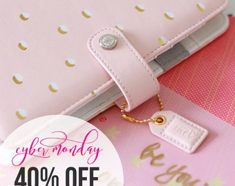 Reserved Listing for Bianca Khatibshahidi 40% Off SALE! Blush & Gold Dots Webster's Pages Planner Kit 2017 Calendar with 1 Extra Book Mark