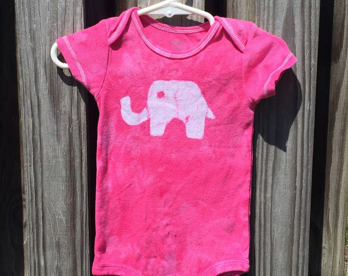 Featured listing image: Elephant Baby Gift, Elephant Baby Bodysuit, Pink Elephant Bodysuit, Pink Baby Gift, Baby Shower Gift, Baby Girl Gift (9 months)