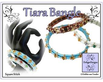 Beading Pattern, Tutorial, Bangle - TIARA