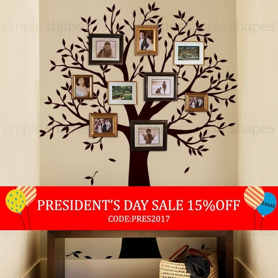 President's Day Sale Narrow Family Tree Decal By SimpleShapes