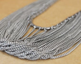 VINTAGE FIND, sterling silver 925 Artisan made chain necklace