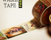 Antique masking tape - Old picture book - 30mmW - Washi