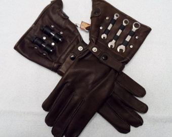 Mechanic's Gloves - Brown Small
