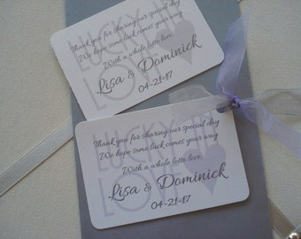 Special Order 150 Lavender and Gray Lisa Lucky Penny Cutest Envelopes for Wedding  Lottery Ticket Favors
