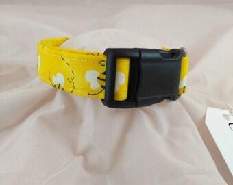 Bright Yellow Bee Dog Collar, Yellow Bee Cat Collar, Cat Collars, Dog Collars