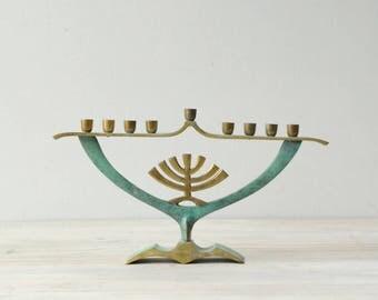 Vintage Menorah from Israel, Modern Menorah