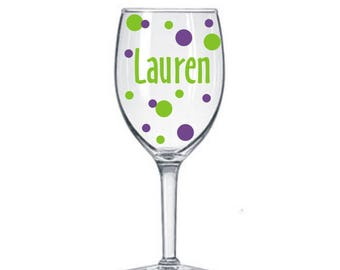 8 Name Decal for DIY Wine Glass kit