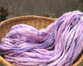 Handspun super bulky yarn, 49 yards and 3 ounces, 86 grams, spun super chunky, thick and thin in merino wool