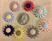 Resin Flowers NEEDLE MINDER Cross Stitching-Cross Stitch-Embroidery-Hand Embroidery-Needlepoint