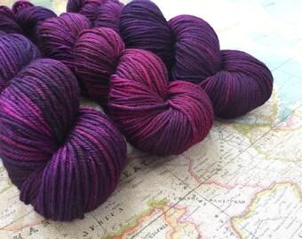 Extra Fine Merino DK hand dyed yarn - Brambleberry