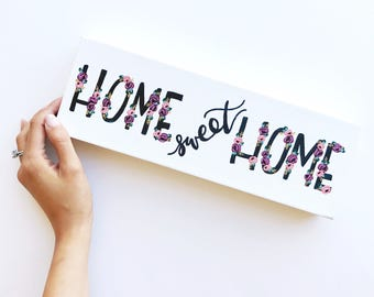 SALE // Home sweet home | canvas