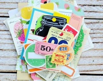 Fruit Ephemera Pack / 45+ Pieces / Vintage Ephemera / Paper Ephemera / Recipes