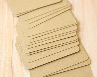 Eco Kraft Brown 300gsm 50pc handmade blank Business Cards