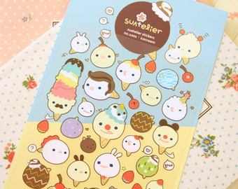 ICE CREAM Suatelier cartoon scrapbooking stickers