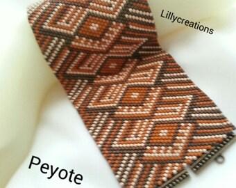 Peyote Bracelet Pattern 2017D