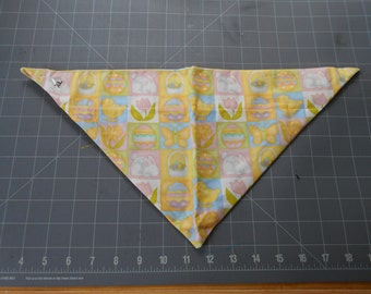 Easter Dog Bandana, Neckerchief, Bunny, Eggs, Spring, butterfly, chick, tulip, basket, daffodil