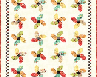 SOMERSAULT Quilt Pattern - Throw Quilt Pattern - Layer Cake Friendly Pattern - Fig Tree and Co. - Joanna Figueroa - Easy Quilt Pattern