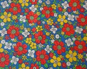Vintage Calico Print Fabric, Small Floral Pattern, 36 inches wide x 33 inches long, Destash