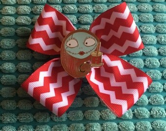 SALE! Nightmare Before Christmas Sally hair bow