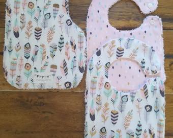Bib and Burp Cloth set, baby shower gift