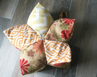 Lotus Meditation Pillow, Yoga, Buckwheat, Yoga cushion, Meditation cushion, Yoga Prop, Zafu, Boho, Bean Bag Chair, Floor Cushion, Handmade