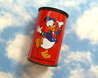 Vintage Donald Duck Disney Red Tin Pencil Sharpener Alco Hong Kong