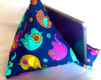 iPad Nook Kindle Pillow Stand in Elephants