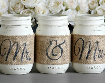 Rustic Wedding Centerpiece,Barn Wedding Table Decor,Bridal Shower Decor,Engagement Party Decor,Mr & Mrs Sign Decor,Rustic Party Decorations
