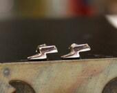Lightning Bolt Sterling Silver Stud Earrings