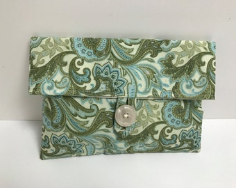 READY TO SHIP - Paisley Cosmetic Bag
