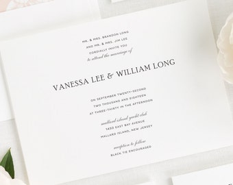 Simple Elegance Wedding Invitations - Deposit