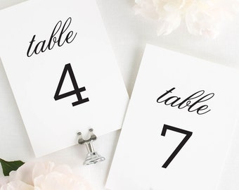 Urban Romance Table Numbers - 4x6""