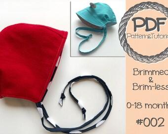 Brimmed Baby Bonnet Sewing Pattern // Brimless Baby Bonnet // Brimmed // Reversible // Lamb // Kangaroo // Sun Bonnet // Baby Sewing Pattern