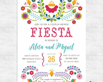 Fiesta invitation / Fiesta couples shower invitations / engagement party invite / printable invitations / printed invitations