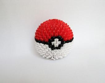 Mini 3D Origami Standard Pokemon Ball
