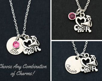 Cheer Gift Personalized Cheerleader Gift • Cheerleader Jewelry Cheer Team Gift • Cheer Jewelry Cheer Coach Gift Cheer Squad Gift