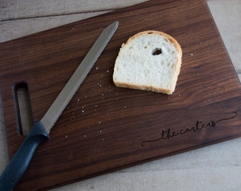 Personalized Engraved Cutting Board Choose From Walnut Maple Cherry or Bamboo
