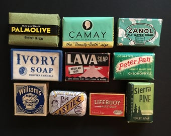Vtg lot Of 10 Bars Of Soap - Instant Collection