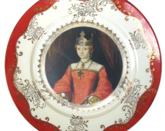 Burger Queen Portrait Plate 7.5""