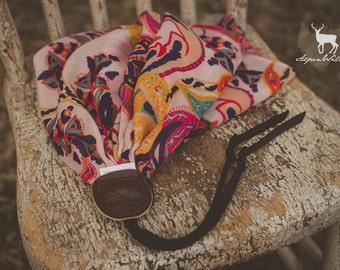 Colorful Paisley Boho Scarf Camera Strap