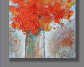 Acrylic Abstract Painting Flowers Painting Original Acrylic Painting Abstract Flowers Palette Knife Art Painting by Mirjana