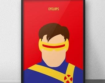Cyclops, XMen, XMen Poster, XMen Print, Cyclops Art Print, Cyclops Poster, Scott Summers, XMen Decoration, Comic Art, Marvel Comics