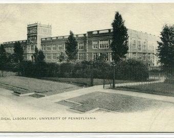 Medical Laboratory University of Pennsylvania Philadelphia 1905c postcard