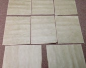 CS6008.  Taupe Package of 8 Leather Cowhide Swatches