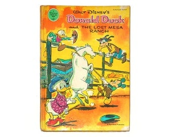 1st Ed. Donald Duck and the Lost Mesa Ranch, Walt Disney Productions, Donald Duck Book, Vintage Disney Books from NewYorkPaperTrail on Etsy