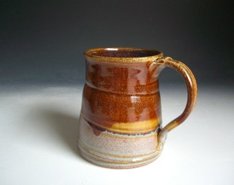 Hand thrown stoneware pottery beer mug   (BM-6)