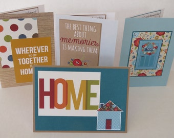 Wherever We Are Together That Is Home Set Of Four Handmade Christian Cards