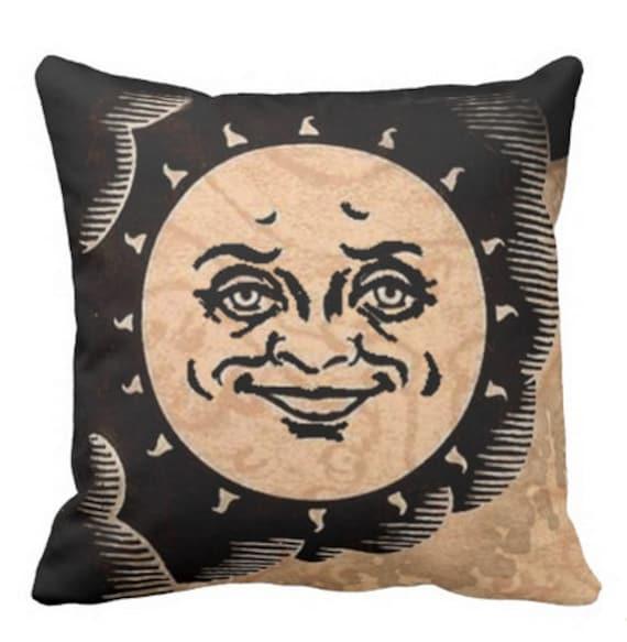 Ouija Sun throw pillow